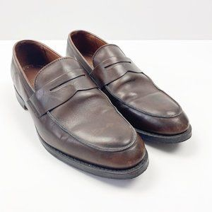 BROOKS BROTHERS Brown Leather Penny Loafers 10